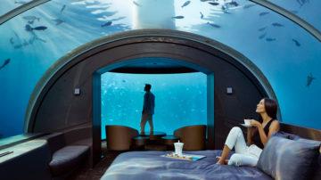 conrad maldives, hotel romantis