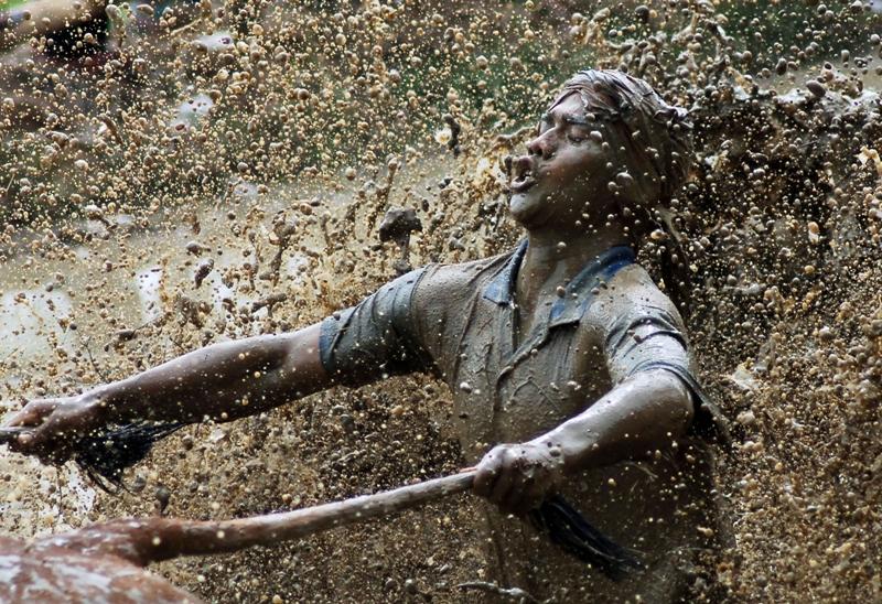 Pacu Jawi di Sumatera Barat masih laku sebagai tema dalam lomba fotografi, seperti yang terlihat dalam karya Iggoy El Fitra (Antara Foto). Juara 1 kategori Art & Entertainment APFI 2014.