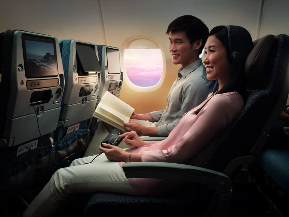 Kabin kelas ekonomi baru Singapore Airlines di armada Boeing 777-300ER.
