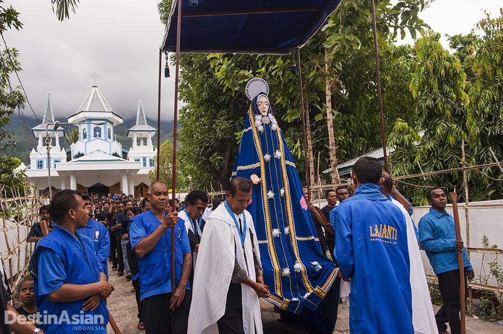 Arca Bunda Maria atau Tuan Ma yang menjadi simbol utama Semana Santa.