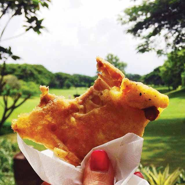 Tempe goreng yang lazim ditemukan di penjual gorengan di Jakarta. Foto diambil ketika Melissa mengunjungi Jakarta.