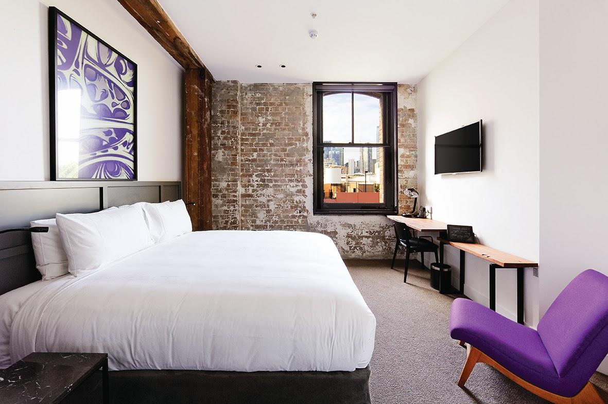 Kamar tipe King Deluxe di Hotel 1888 Sydney.