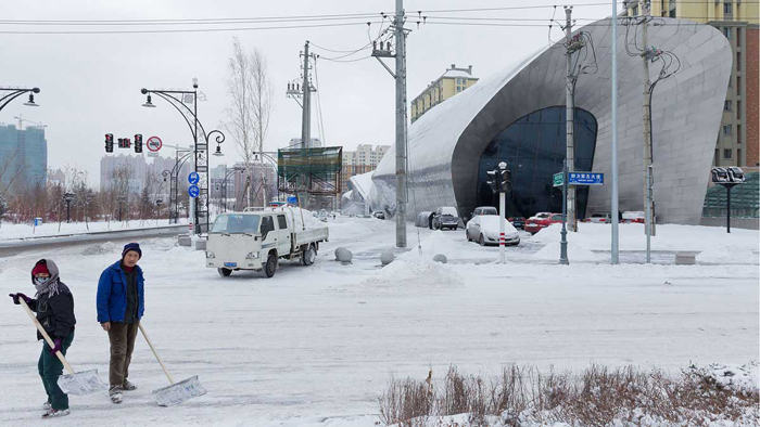 Suasana di musim dingin dengan suhu mencapai minus 20 derajat Celsius.