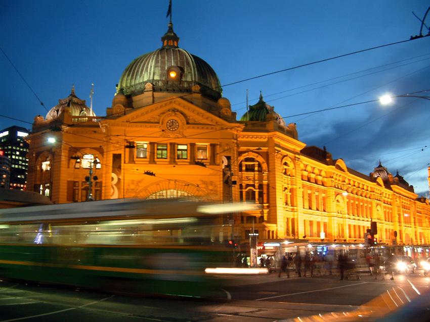 Stasiun Flinders Street.