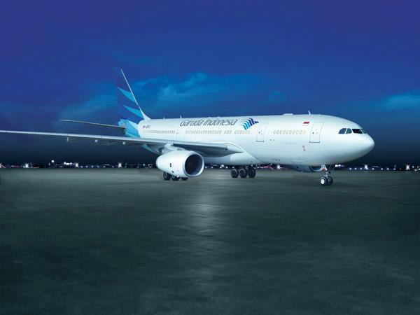 Salah satu armada Airbus A320 milik Garuda Indonesia.