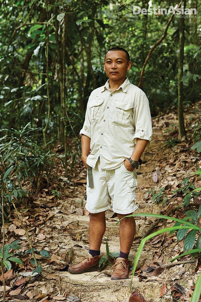 Justin Juhun, sang pemandu tamu di Gaya Island Resort.