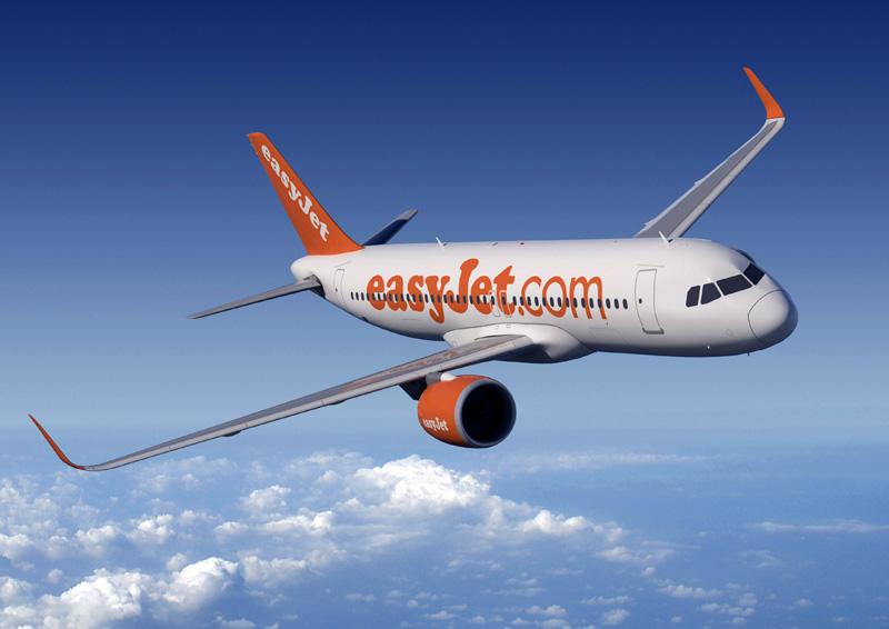 Pesawat easyJet A320neo.