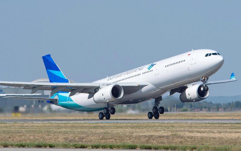Armada Airbus 330-300 yang digunakan untuk melayani rute Jakarta-Tokyo Haneda.