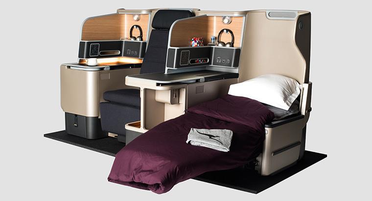 Kursi kelas bisnis baru di armada Airbus 330.