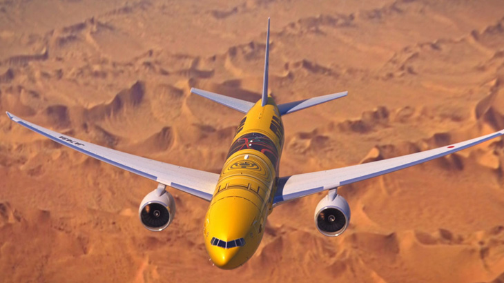 Pesawat bertemakan Star Wars keempat milik ANA ini akan melayani rute domestik.
