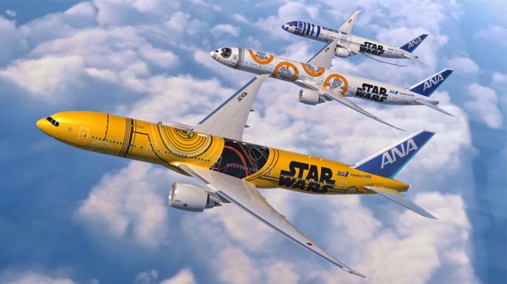 C-3PO adalah tokoh ketiga yang digambar di bodi pesawat ANA Star Wars.