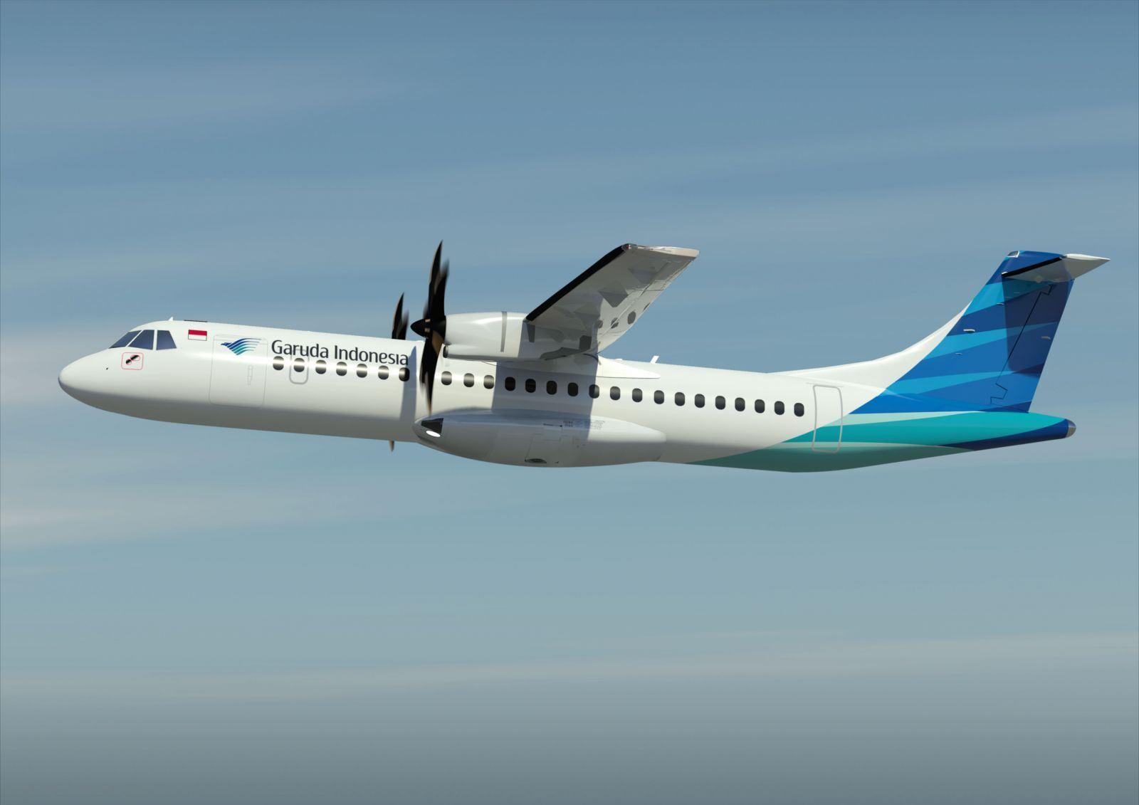 Pesawat ATR72-600 akan melayani rute-rute pendek di Indonesia.