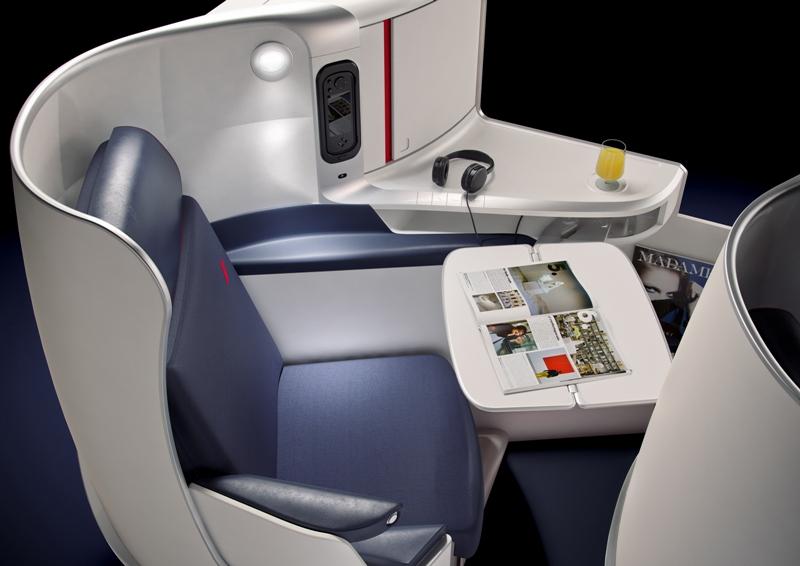 Kursi kelas bisnis baru Air France.