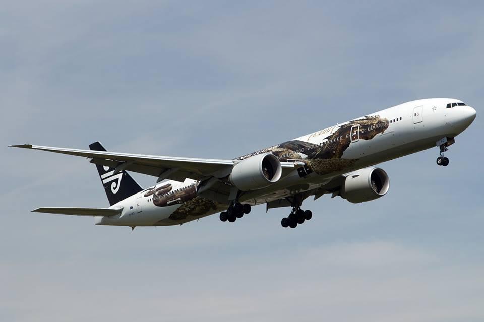 Pesawat Boeing 777 milik Air New Zealand yang akan melayani penerbangan Auckland-Singapura pp.