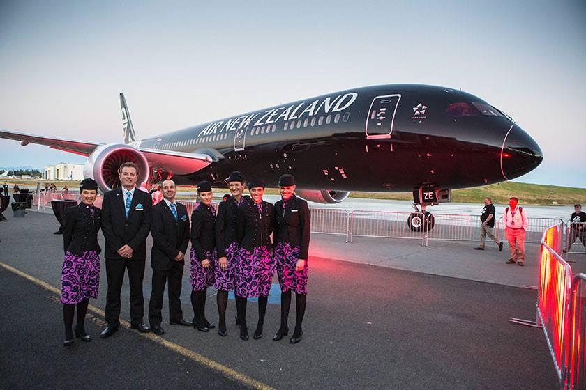 Ini adalah pesawat B787-9 Dreamliner pertama dari 10 pesanan Air New Zealand.