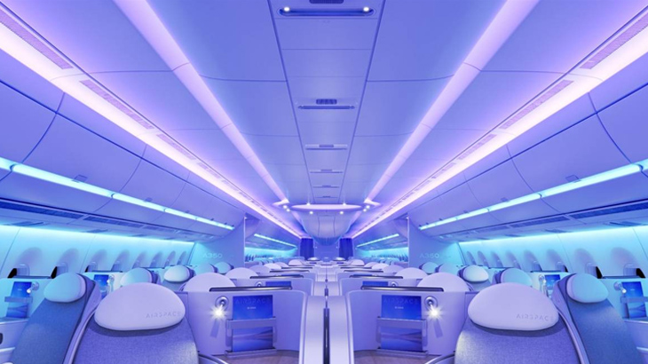 Seluruh kabin dilengkapi dengan mood light LED.
