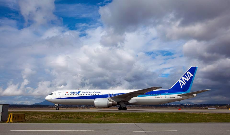 Selain Jakarta dan berbagai destinasi di Asia Tenggara, ANA juga melakukan penerbangan perdana Haneda-Vancouver.