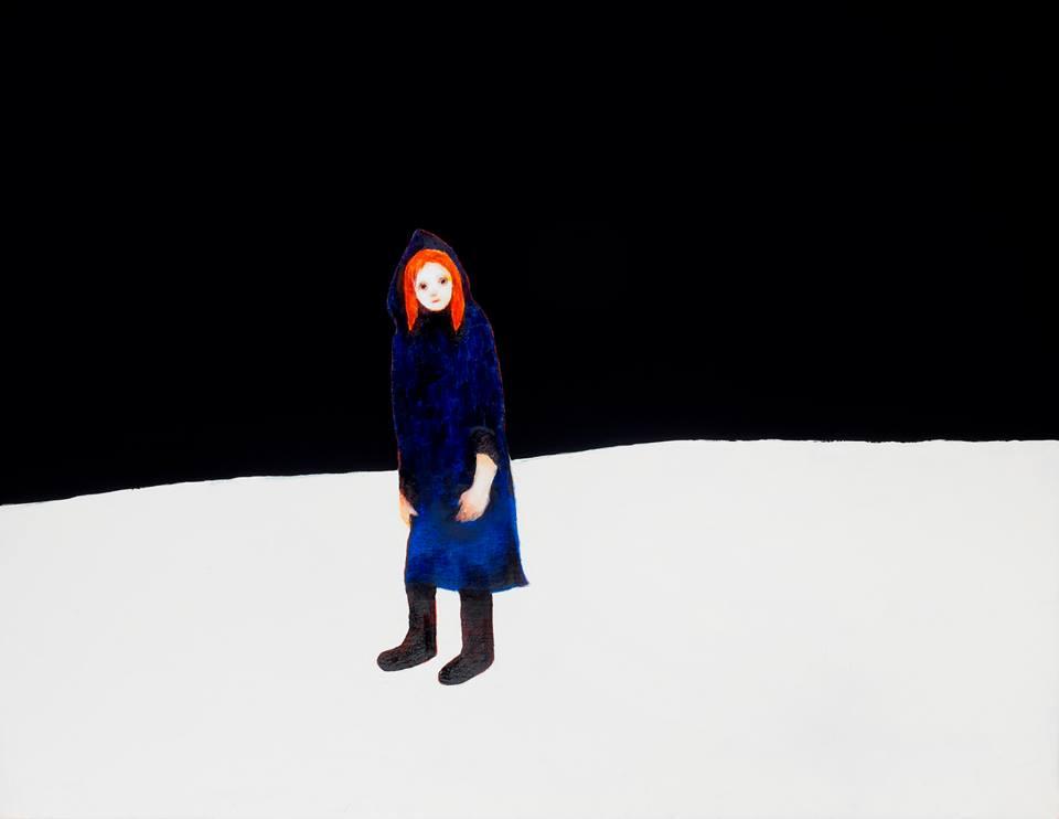 Lukisan berjudul 'Roaming Person' karya Chisato Tanaka.
