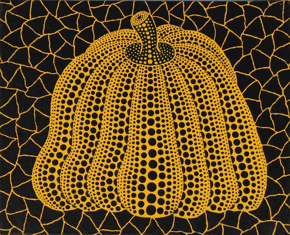 Lukisan 'Pumpkin' kreasi Yayoi Kusama, salah satu seniman populer asal Jepang.