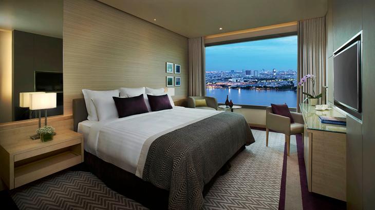 Seluruh kamar di Avani Riverside Bangkok dirancang menghadap Sungai Chao Praya.