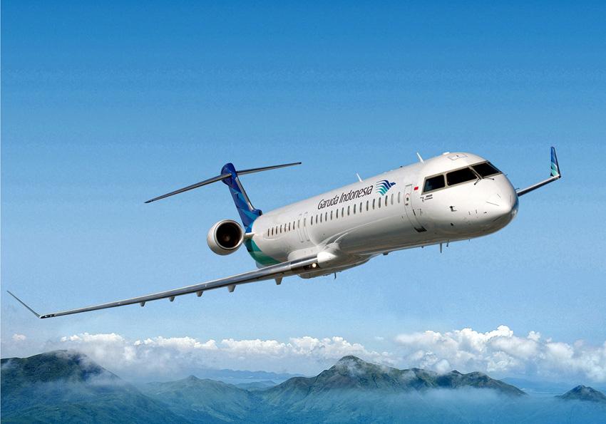 Pesawat Bombardier CRJ1000 untuk operasional rute Balikpapan - Berau.