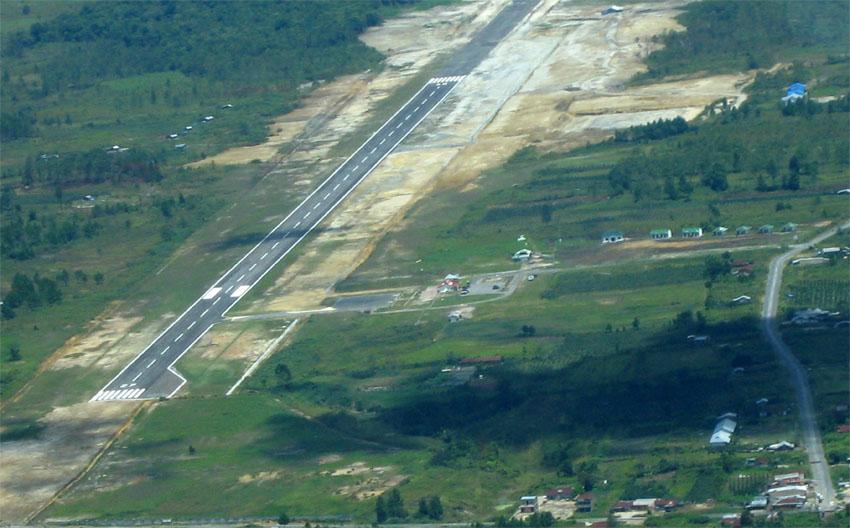 Bandara Silangit tampak dari udara. (Foto: Flickr/PT Mitra Engineering Group)