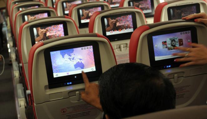 Kursi Batik Air yang juga dilengkapi dengan sistem hiburan. (Foto: Batik Air)