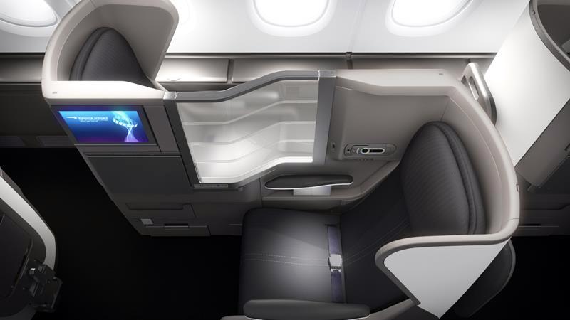 Kursi kelas bisnis armada A380 milik British Airways.