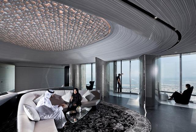 Premium Lounge untuk bersantai di At the Top, Burj Khalifa SKY.