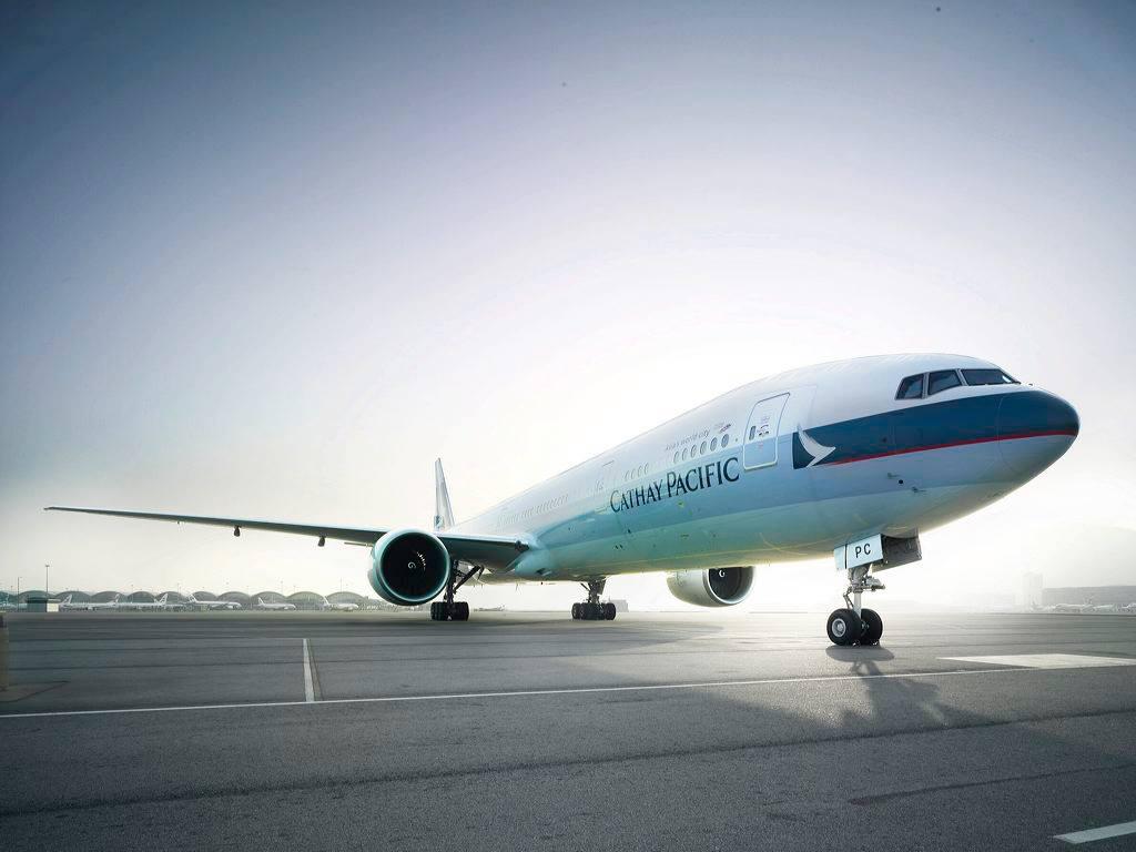 Salah satu armada Cathay Pacific Airways.