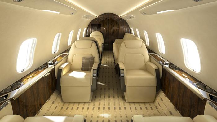 Interior terkesan mewah dan minimalis.