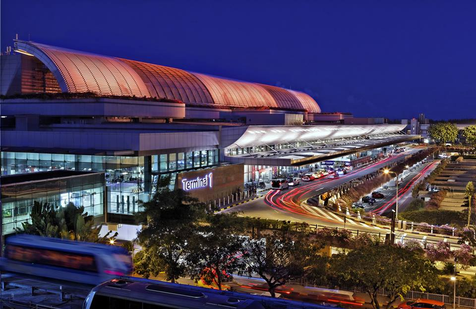 Terminal 1 Changi yang mulai padat.