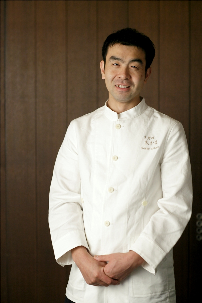 Takagi Kazuo yang siap menyajikan hidangan Kyoto terbaik.
