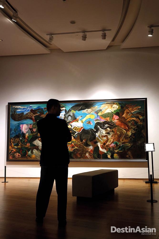 Lukisan berjudul 'Pangeran Diponegoro Terluka' karya Hendra Gunawan di Ciputra Museum.