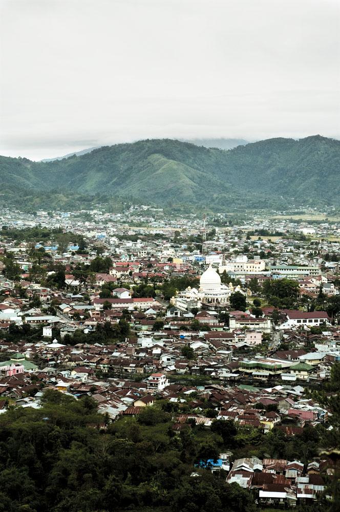 Lanskap kota Takengon, Ibu Kota Aceh Tengah.