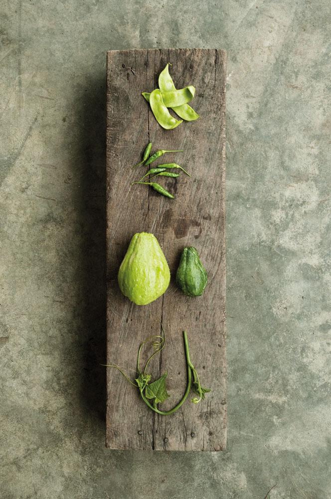 Empat bahan makan yang lazim dijumpai di dapur orang Gayo.