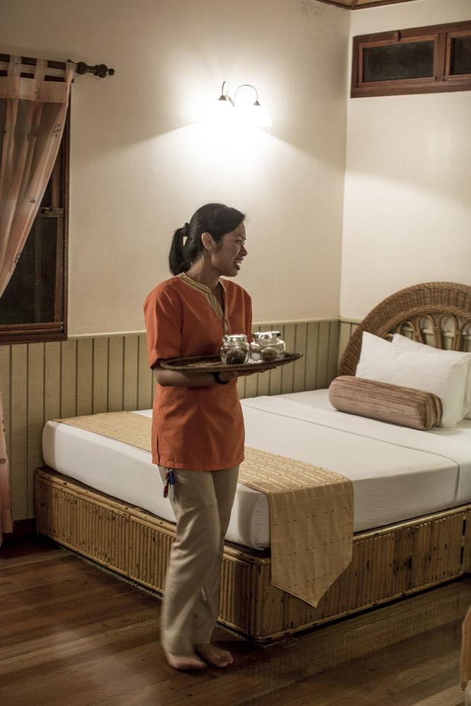 Kamar di Borneo Rainforest Lodge.