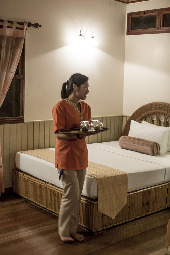 Kamar nyaman di Borneo Rainforest Lodge.