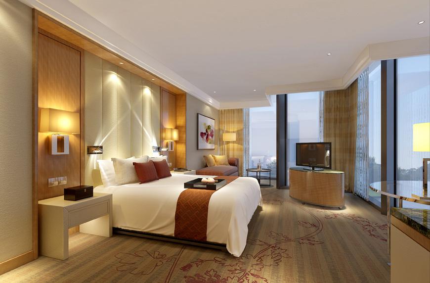Jumlah kamar di DoubleTree Wuhu cukup masif yakni mencabai 442 unit.