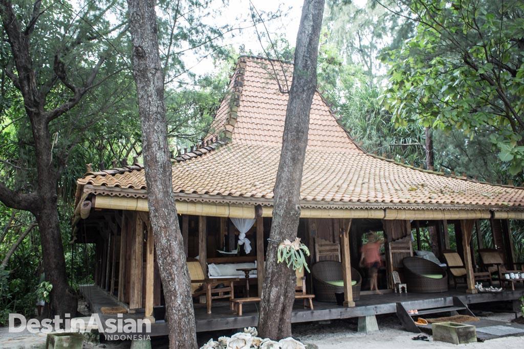 Rumah Joglo di resor Isle East Indies.