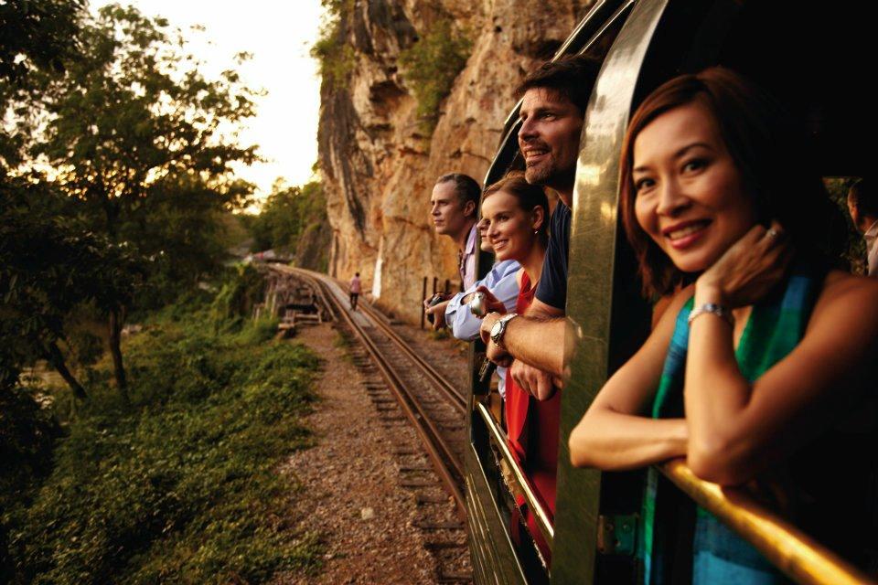 Menikmati pedesaan Asia Tenggara.