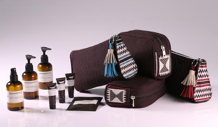 Amenities kit yang berisi produk-produk kecantikan dari Le Labo.