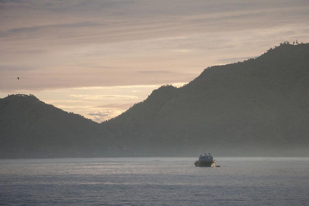 Suasana pagi di Dili.