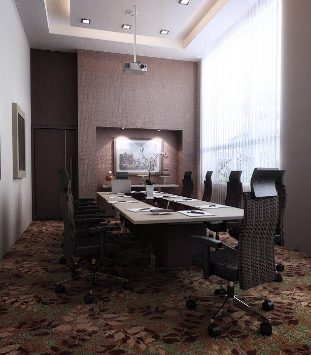 Ruang meeting berkonsep modern dan elegan.