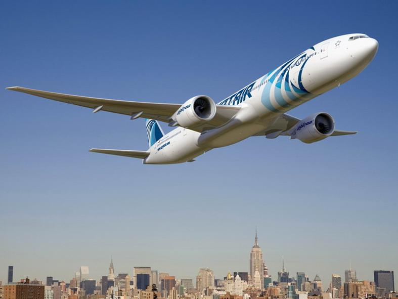 Penerbangan Jakarta-Kairo via Bangkok dilayani empat kali per minggu.