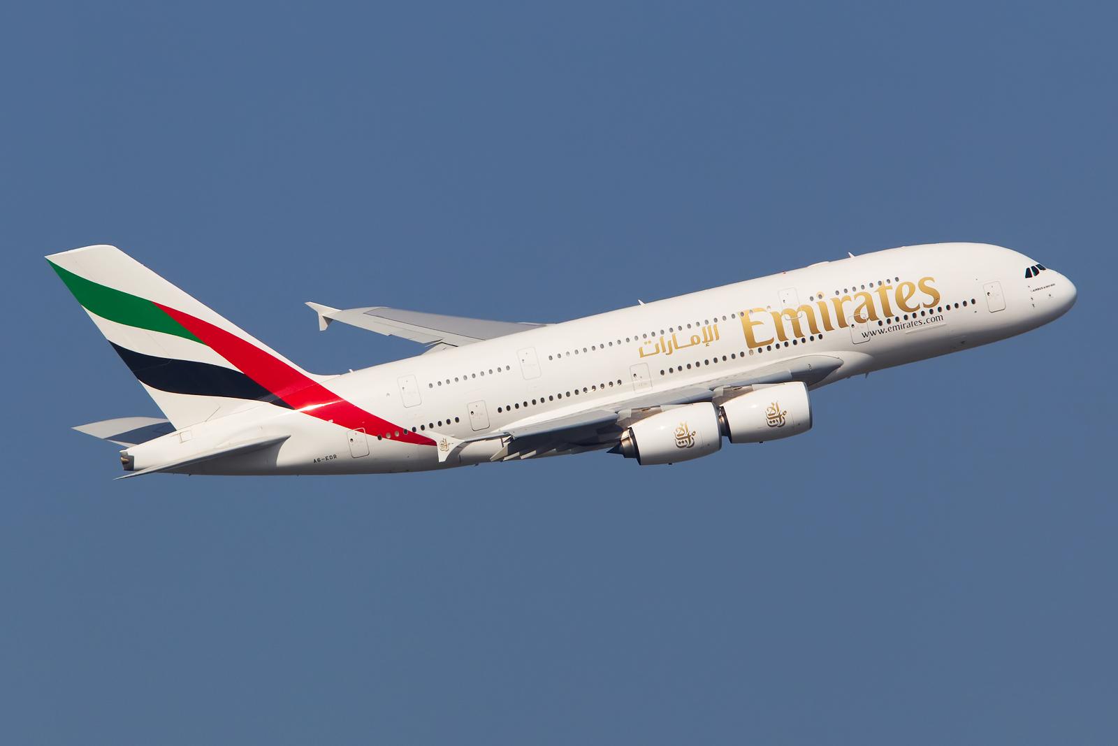 Armada Airbus A380 Emirates.