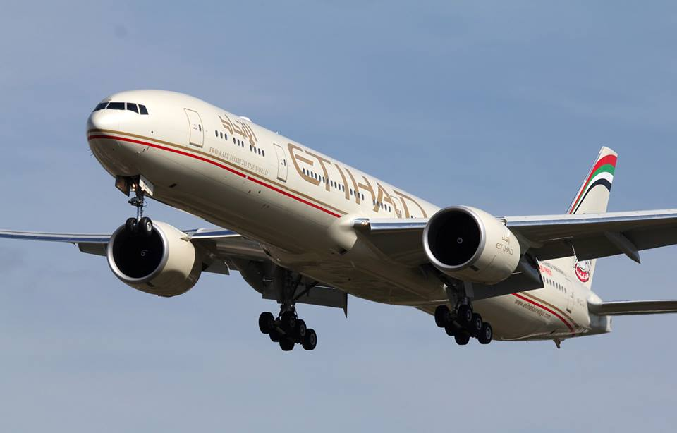 Armada anyar Boeing 777 milik Etihad Airways.