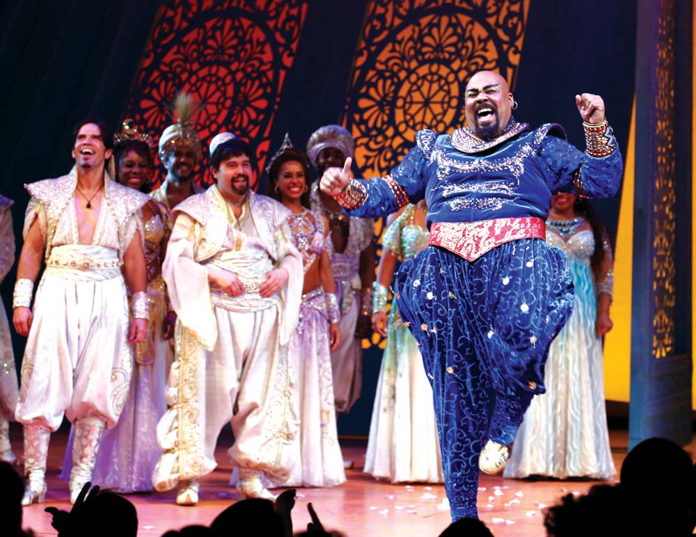 Pertunjukan broadway Aladdin.