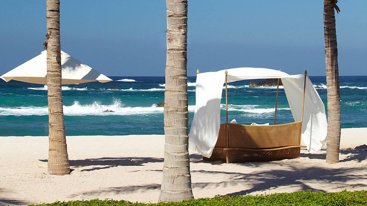 Pantai privat di Four Seasons Punta Mita, Meksiko.