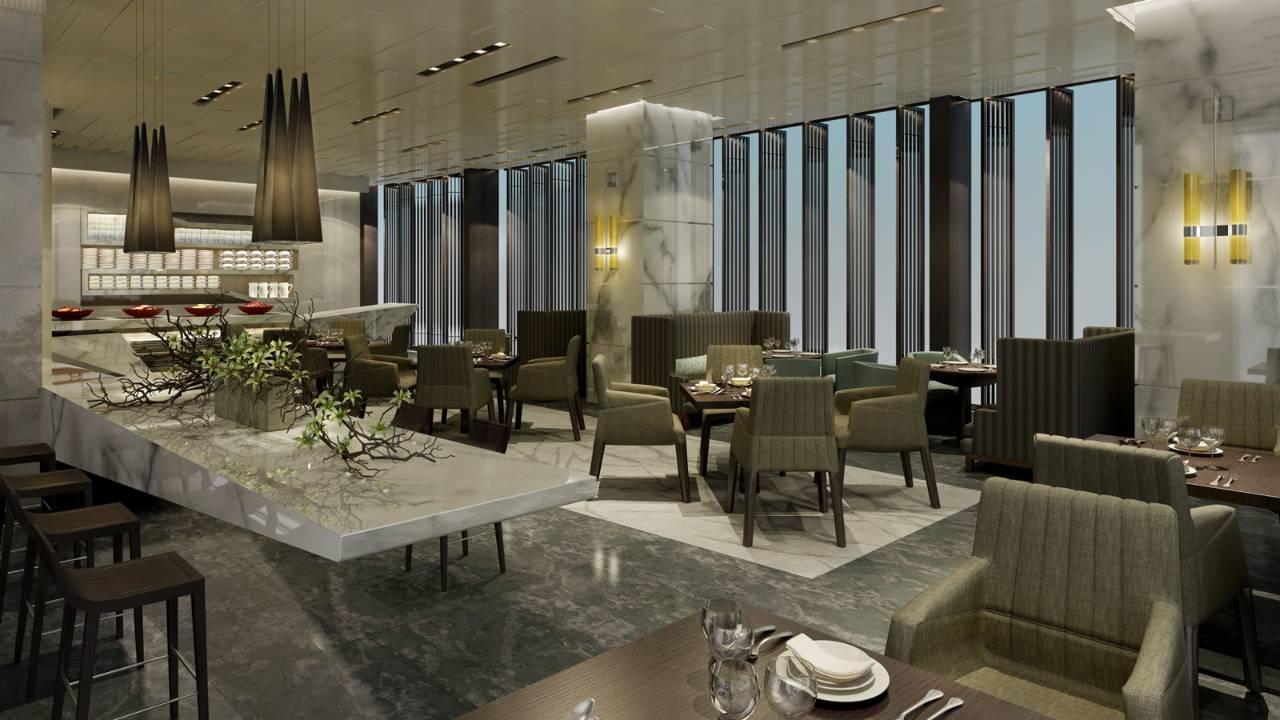 Executive Lounge di Hotel Four Seasons Shenzhen.
